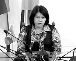 Руководитель администрации главы ЛНР Ирина Тейцман (фото: кадр из видео)