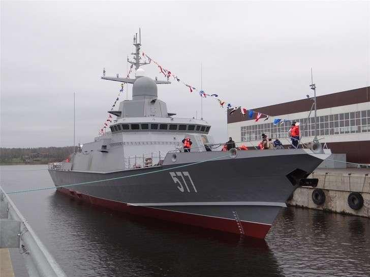 Спущен наводу малый ракетный корабль «Тайфун»
