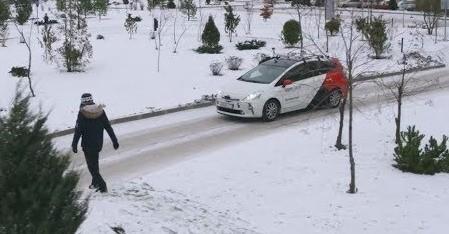Яндекс показал испытания беспилотного автомобиля на снегу