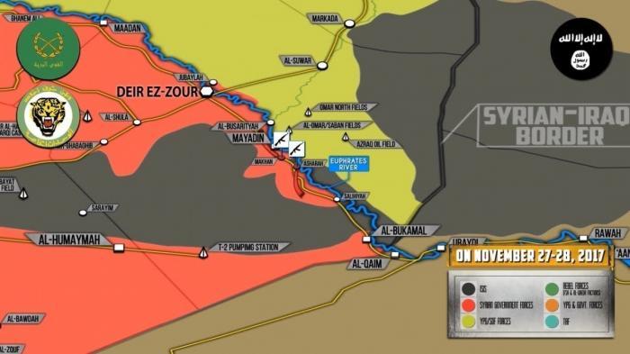 Сирия. Правительственные войска при поддержке ВКС России зачищают от ИГИЛ Евфрат