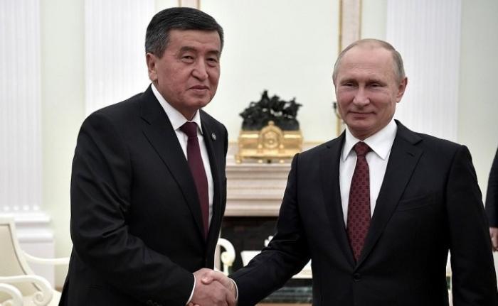 В Кремле состоялись переговоры Владимира Путина с Президентом Киргизской Республики