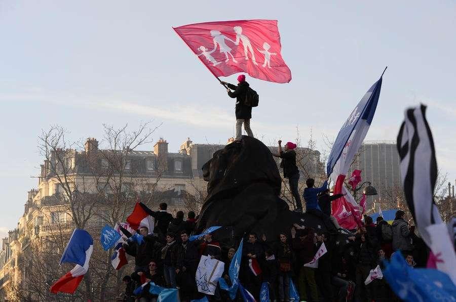Противники однополых браков одержали во Франции первую победу