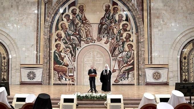 Владимир Путин выступил на заседании Архиерейского собора РПЦ