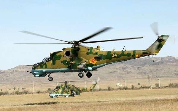 Сирия: видео падения Ми-24 ВВС Сирии