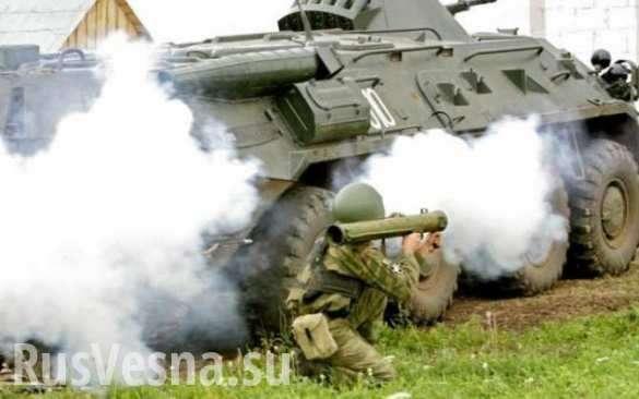 Армия ДНР ведёт ожесточённый бой против карателей жидоХунты под Донецком | Русская весна