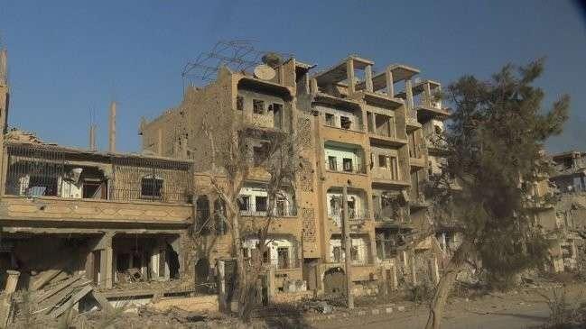 Город в провинции Дейр-эз-Зор, разрушенный террористами ИГИЛ.