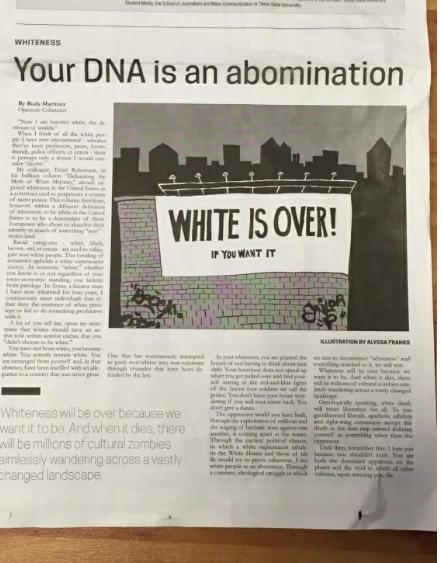 «Белых нужно убивать, они – аномалия» – чёрный расизм из университета Техаса