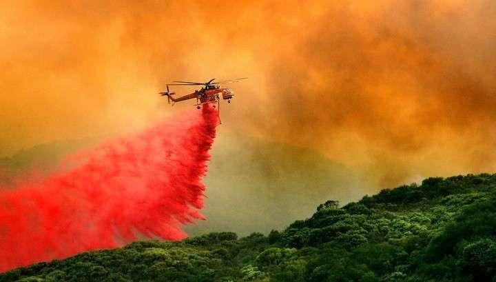 В Калифорнии (США) горят 57 тысяч гектаров леса