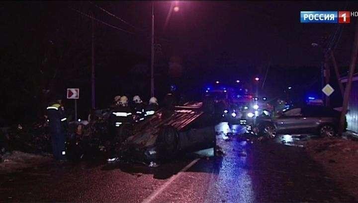 В Москве уличная гонка безмозглых водителей закончилась гибелью троих человек