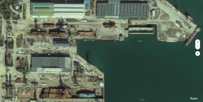 Строительство Керченского моста– взгляд изкосмоса