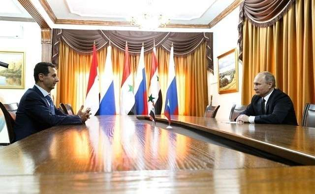 Встреча Владимира Путина с Башаром Асадом. Авиабаза Хмеймим в Сирии