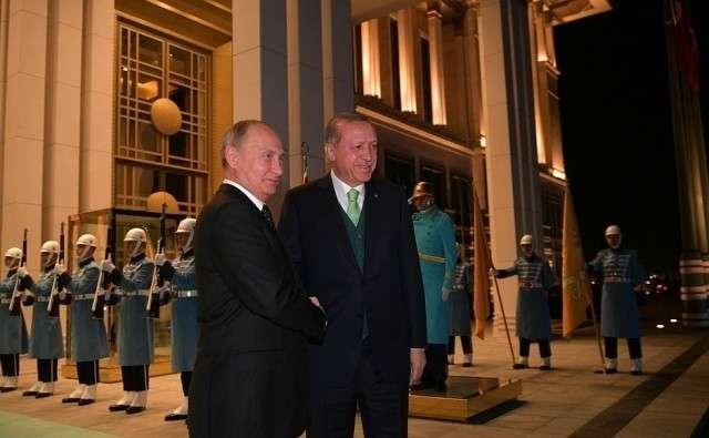 Прибытие Владимира Путина в Турцию. 11 декабря 2017 года
