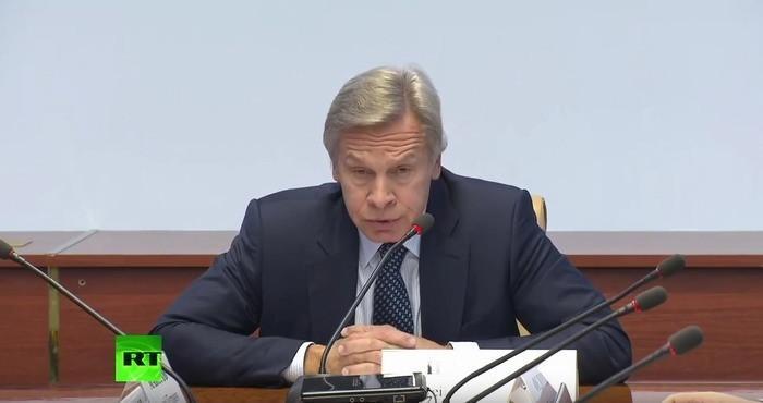 Алексей Пушков провёл пресс-конференцию по ситуации со СМИ-иноагентами