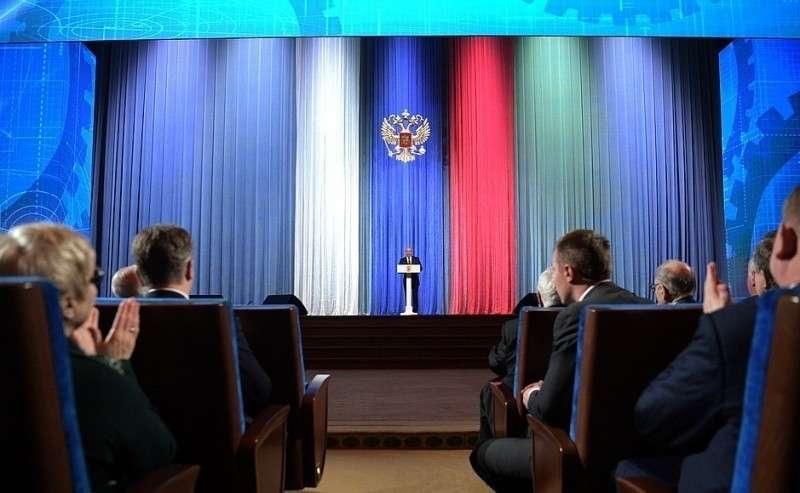 Владимир Путин выступил перед ветеранами и работниками оборонно-промышленного комплекса.