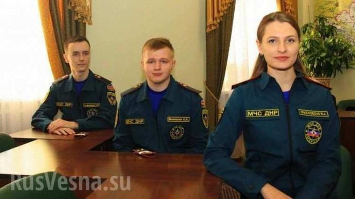 Харьковские курсанты МЧС организованно перешли на службу в ДНР