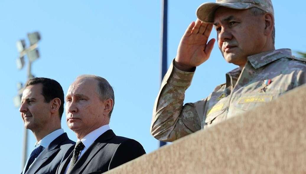 Сергей Шойгу по поручению Владимира Путина поблагодарил военных, охранявших его в Сирии