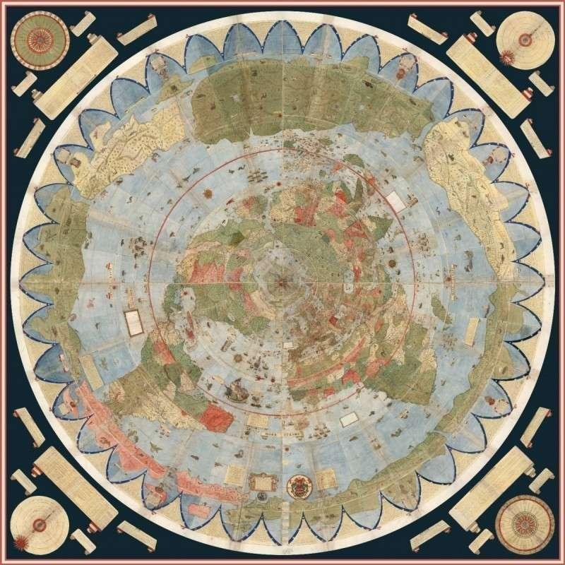 Странная карта, возрастом 430 лет, разрушает официальную версию истории