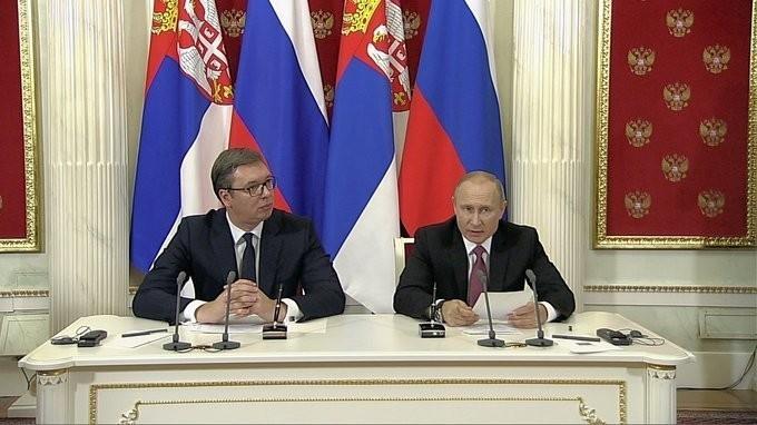 Заявления Владимира Путина и Александра Вучича поитогам российско-сербских переговоров