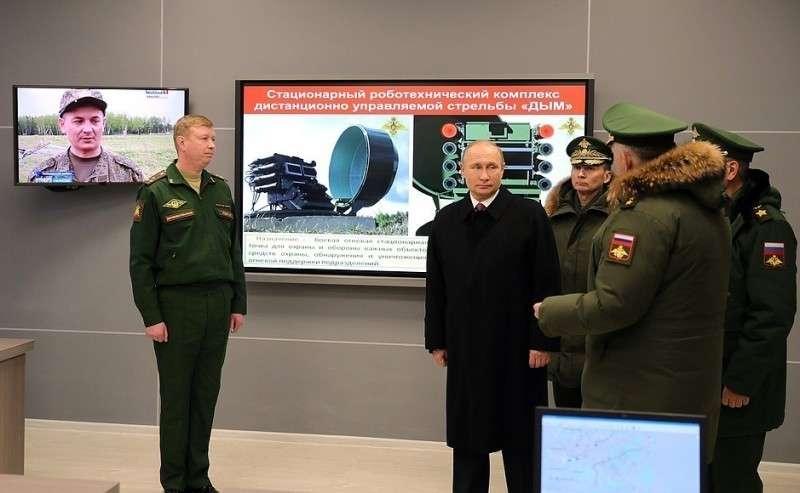 Вовремя посещения Военной академии Ракетных войск стратегического назначения имени Петра Великого.