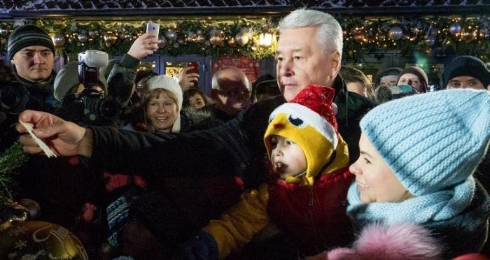 Сергей Собянин открыл в Москве фестиваль «Путешествие в Рождество»