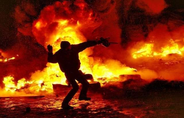 Киев, ул.Грушевского. 22.01.2014, Евромайдан