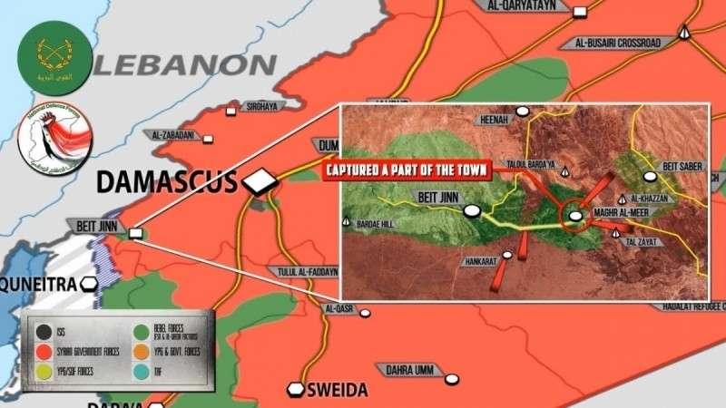 Сирия. Правительственная армия штурмует котел Нусры у границы с Израилем