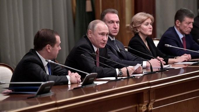 Итоговая в 2017 году встреча Владимира Путина с членами кабинета министров