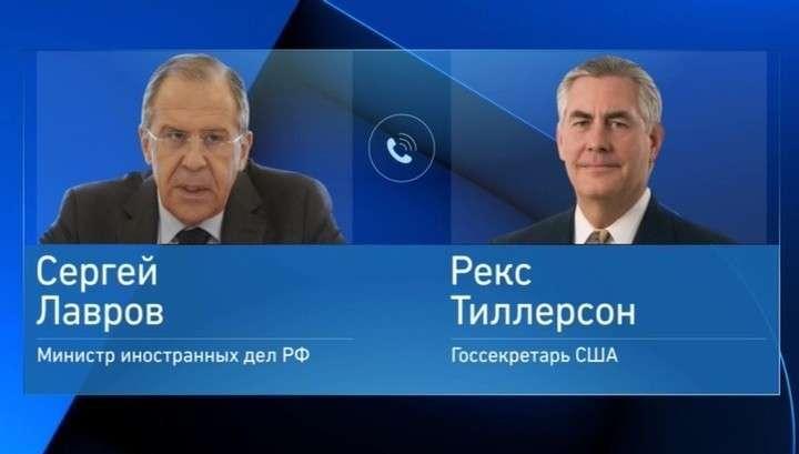 Рекс Тиллерсон поговорил с Сергеем Лавровым о ситуации в КНДР, Украине и Сирии