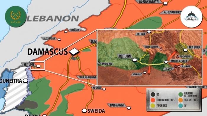 Сирия. Нусрачи «слили» котёл возле границы с Израилем правительственной армии