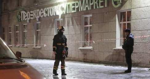 Петербург: кадры последствий взрыва в магазине «Перекресток»