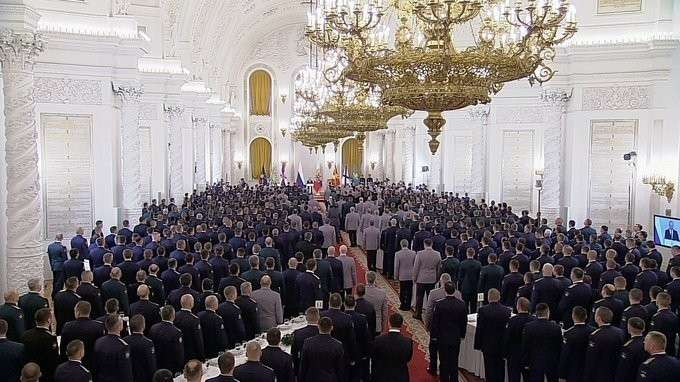 Встреча своеннослужащими, участвовавшими вантитеррористической операции вСирии