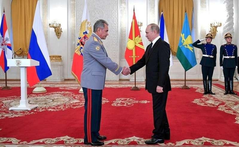 СМинистром обороны Сергеем Шойгу.