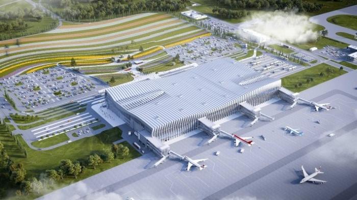 В Симферопольском аэропорту закончено возведение здания нового терминала