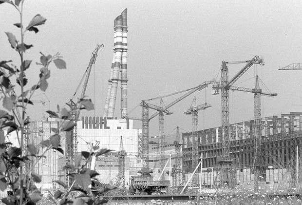 Игналинская АЭС. Строительство второго энергоблока. 1986 год