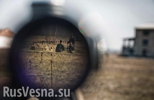 Жестокие кадры: Снайперы уничтожают нацистов на Донбассе(ВИДЕО 18+) | Русская весна