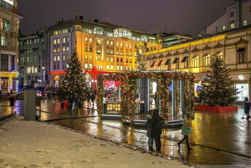 Кузнецкий мост около ЦУМа. красиво, красота, москва, новый год, праздник, рождество, столица, фотография