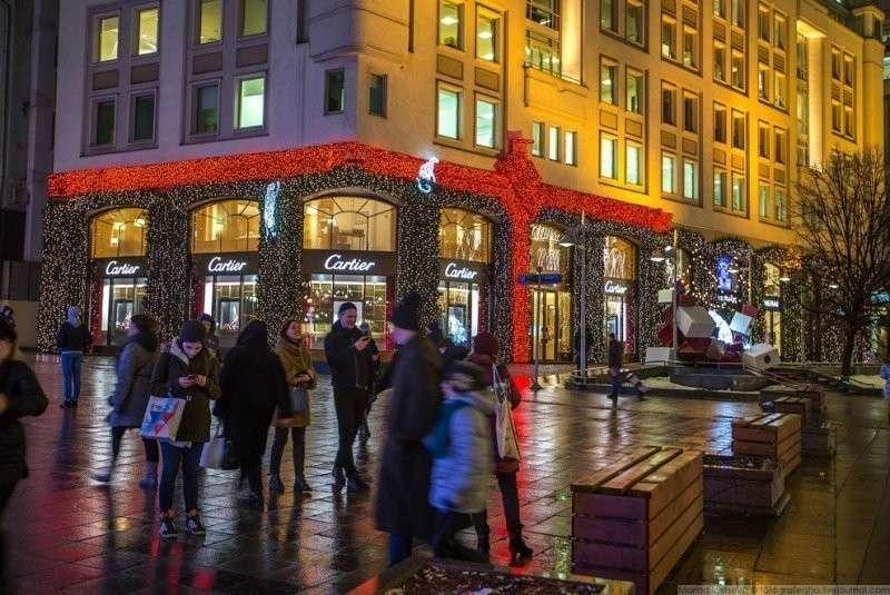 БЦ Берлинский дом. красиво, красота, москва, новый год, праздник, рождество, столица, фотография
