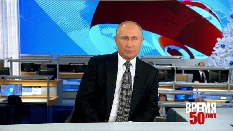 Интервью Владимира Путина программе «Время» в день её пятидесятилетия