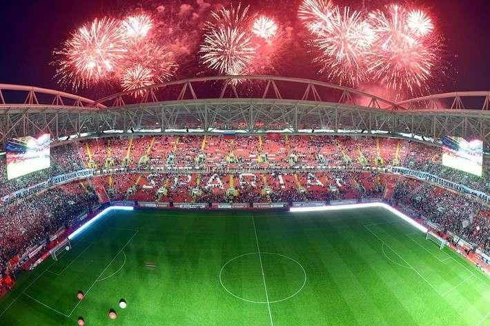 Открытие в Москве стадиона «Открытая Арена»
