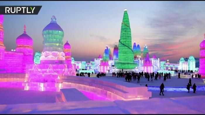 В Китайском Харбине открылся международный фестиваль льда и снега