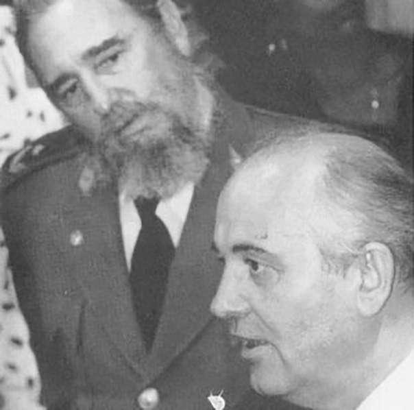Взгляд презрения Фиделя Кастро на предателя Горбачёва