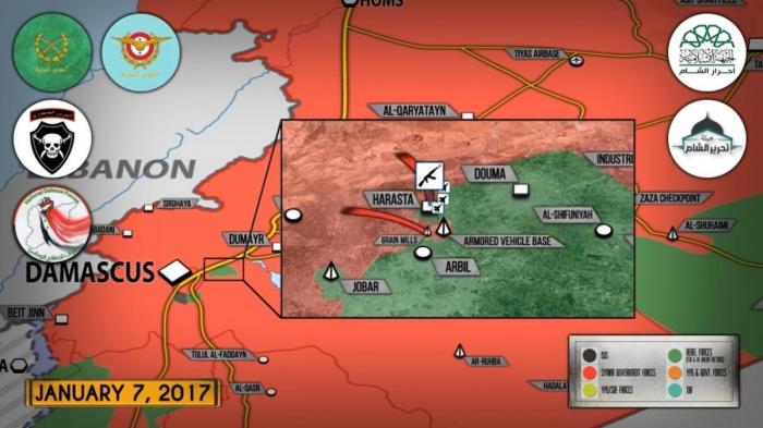 Сирия. Правительственная армия формирует идлибский котёл