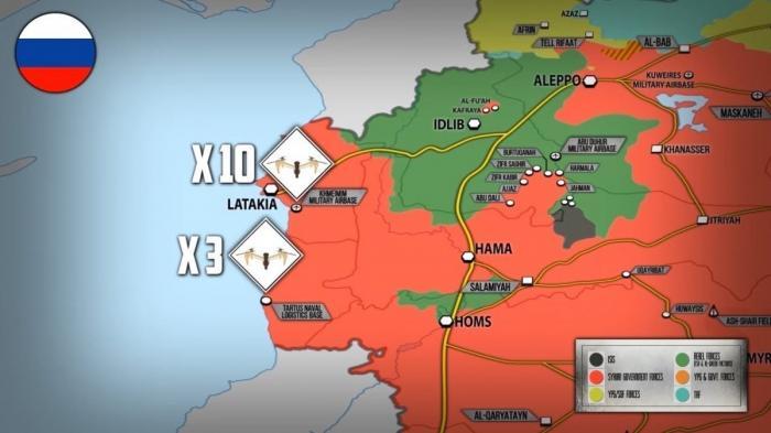 Сирия. Аэропорт Хмеймим и базу Тартус атаковали дронами, освобождение Идлиба