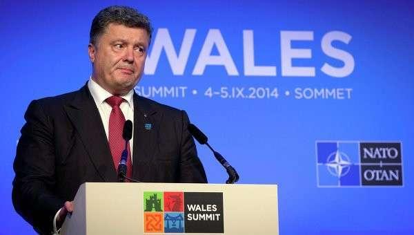Украинский президент Петр Порошенко на саммите НАТО в Уэльсе. Архивное фото