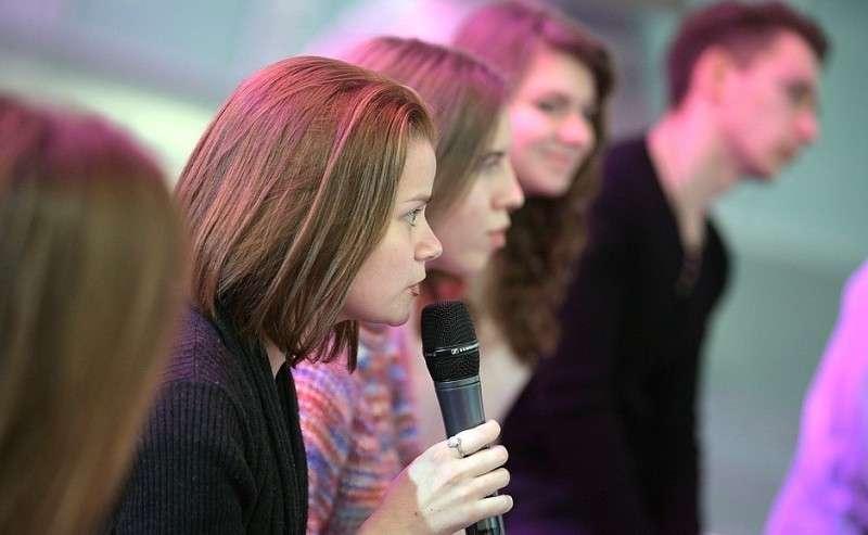 Встреча сошкольниками– победителями Всероссийского конкурса сочинений «Россия, устремлённая вбудущее».