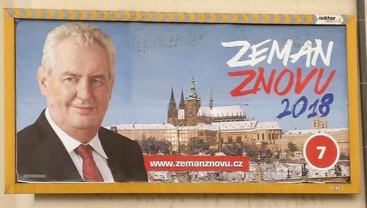 Выборы в Чехии: прорусский Земан противп проевропейского Драгоша