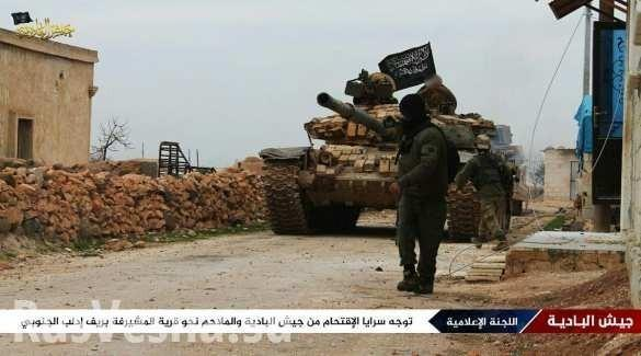 Сирия, Идлиб. Орды Аль-Каиды и Нусры в попытках сломить оборону правительственной армии