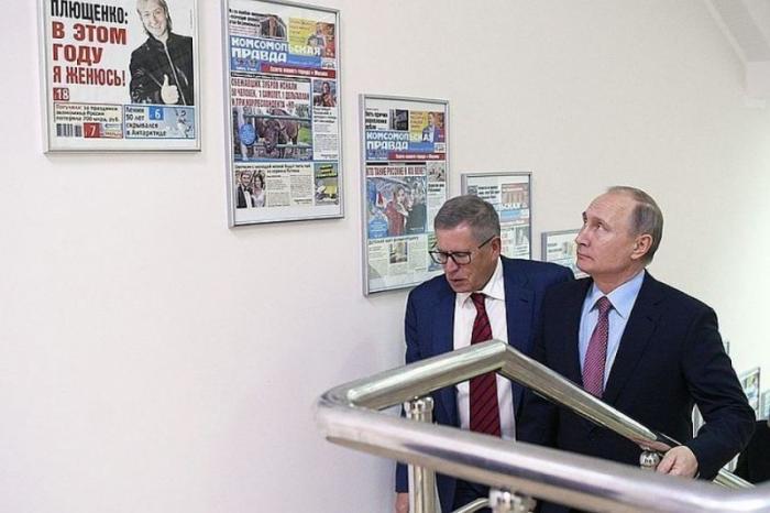 Владимир Путин в редакции «Комсомолки», что осталось за кадром