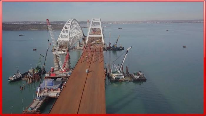 Крымский мост. Как идёт строительство 12.01.2018