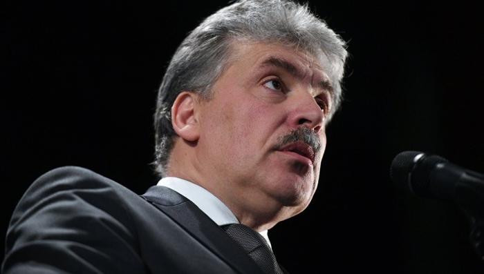 Во время мероприятия с кандидатом Грудининым, неожиданно умер член партии КПРФ